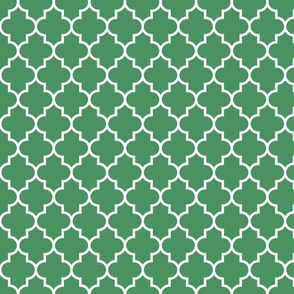 quatrefoil MED kelly green