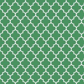 quatrefoil MED kelly green