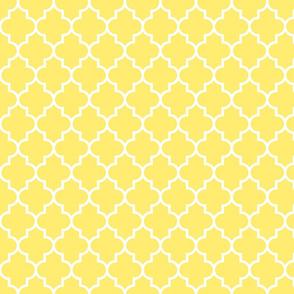 quatrefoil MED lemon yellow