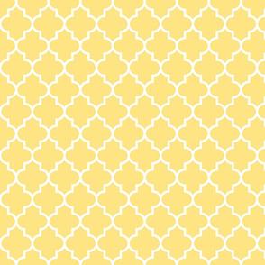 quatrefoil MED sunshine yellow