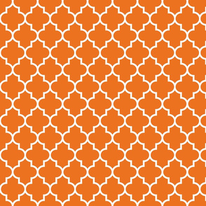 quatrefoil MED orange