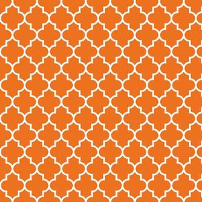 quatrefoil MED orange