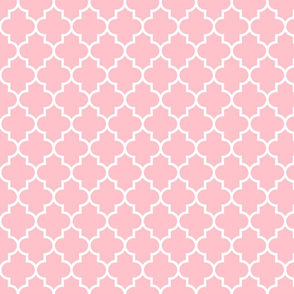 quatrefoil MED light pink