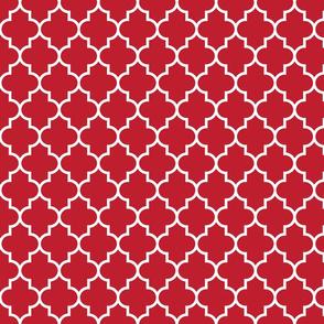 quatrefoil MED red