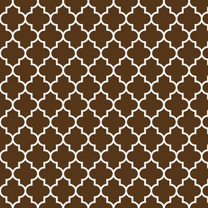 quatrefoil MED brown
