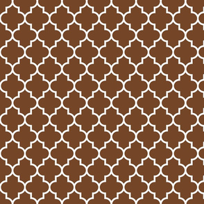 quatrefoil MED chocolate brown