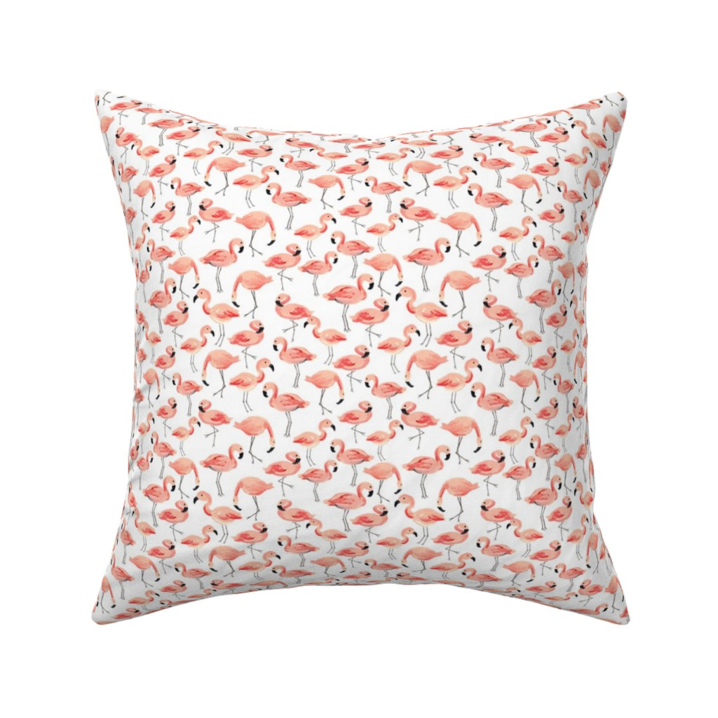 Catalan Throw Pillow featuring Flamingo Party (Small) by shelbyallison