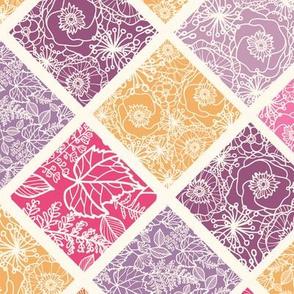 Rhombus textured seamless pattern