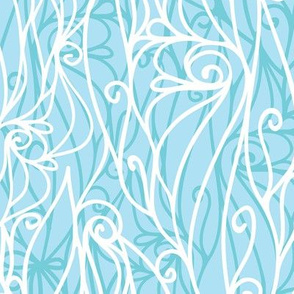 Abstract frost swirls texture seamless pattern