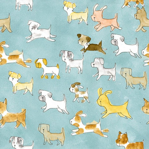 Dogs on the Go Pattern - © Lucinda Wei