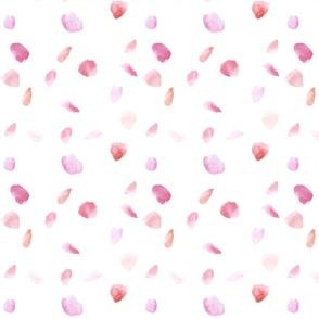 Pink Peach Rose Petals Watercolor