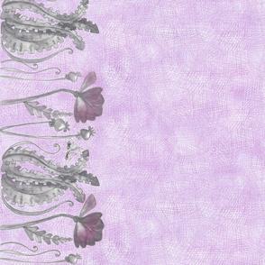 Crosshatch Sketched Forest Floral (poppy)