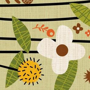 Fall flower border for Loretta