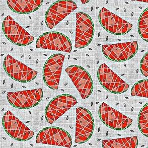 Watermelon on linen