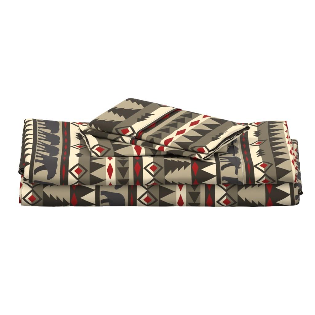 Langshan Full Bed Set featuring navajobear by bluegreenplanet
