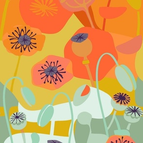 Poppies-Continuous Orange