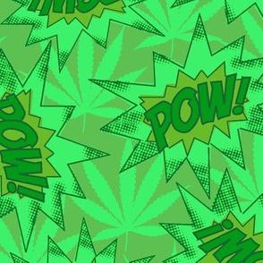 Pow green on green