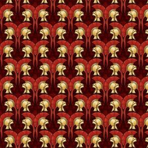 Roman Helmets, rust