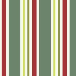 Paper Stripe joy greens red