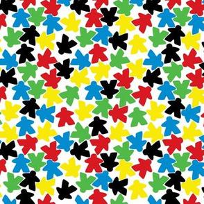 Meeple people - multicoloured