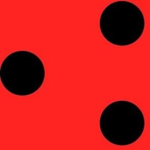 Linka Dots (Ladybug) (Black on Red)