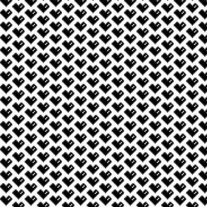 Pixel Heart (black on white)