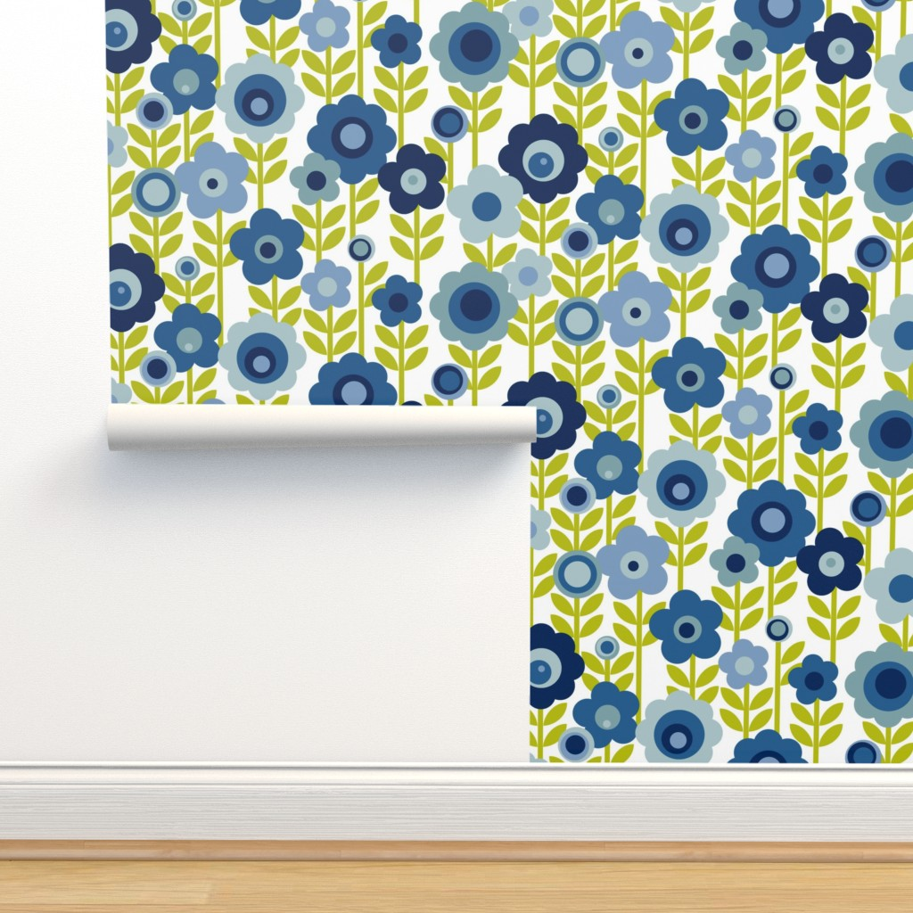Marguerite Blue Vintage Sheet Mod On Isobar By Pennycandy