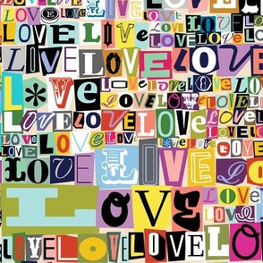 Letters of L-O-V-E* {Revisited}  || valentine valentines day love collage ransom note romance alphabet typography