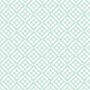 small tribal diamonds - pale aqua