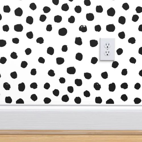 wallpaper dots and spots black and white minimal monochrome dots
