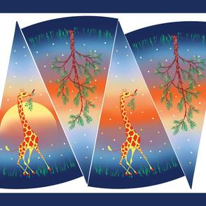 Vintage Savannah Sunset Giraffe Circle Skirt Kit