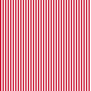 small popcorn stripe (Christmas red)
