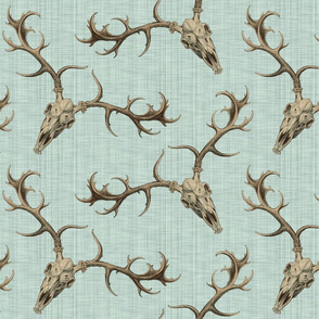 DigSkullery ~ Skirmish ~ Sepia on Sea Glass ~ Linen Luxe