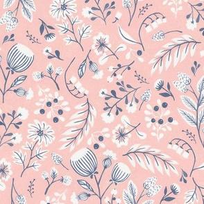 Pink Folk Floral