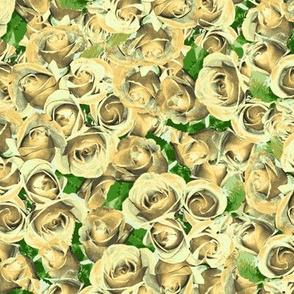 Abundant Roses - Antique Cream