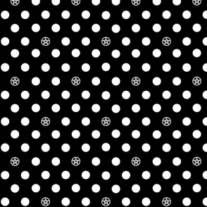 Halloween Polka-Grams Black & White
