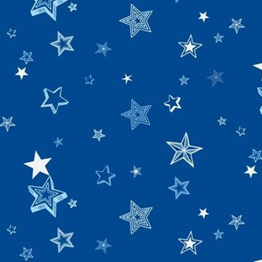 Stars and stars-dark blue small