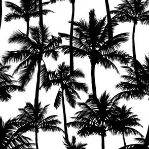 Palm Trees Black And White Small Bla Spoonflower
