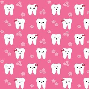 Happy Teeth and Flowers