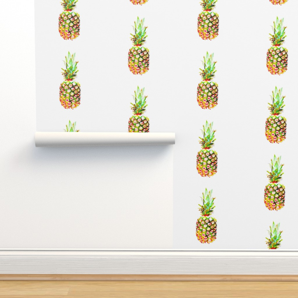 Isobar Durable Wallpaper featuring Pineapple lg by daniellereneefalk