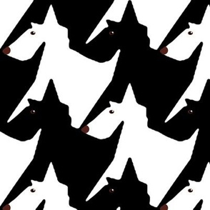 Tesselating Black and White Scottie Dogs