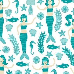 Mermaids & Friends (Teal)