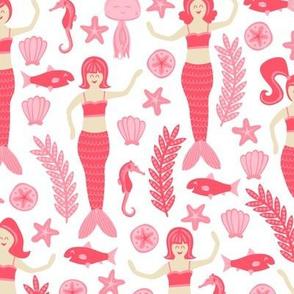 Mermaids & Friends (Pink)