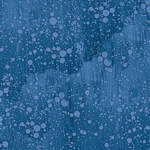 twilight blue rain splatter