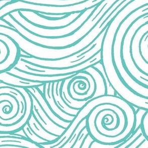 Waves Woodblock Grande