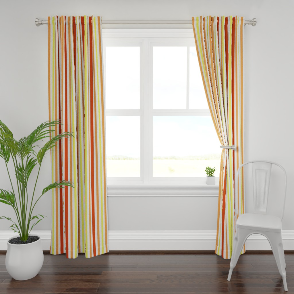 Plymouth Curtain Panel featuring Jolly Holiday Stripes by lowa84