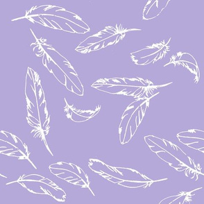 Feathers on Lilac