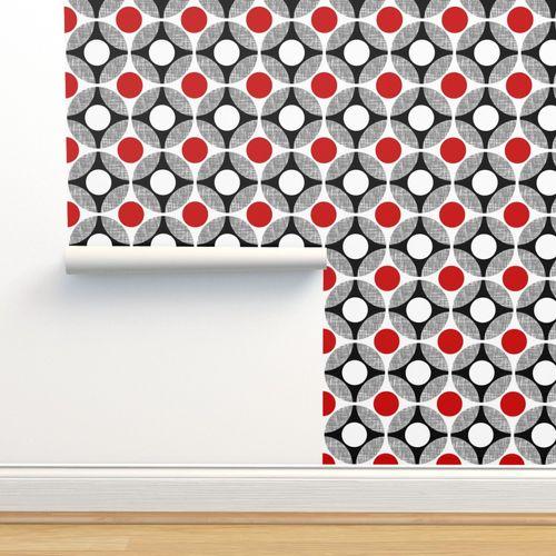 Uk Mod Geometric Bullseye In Red White Spoonflower