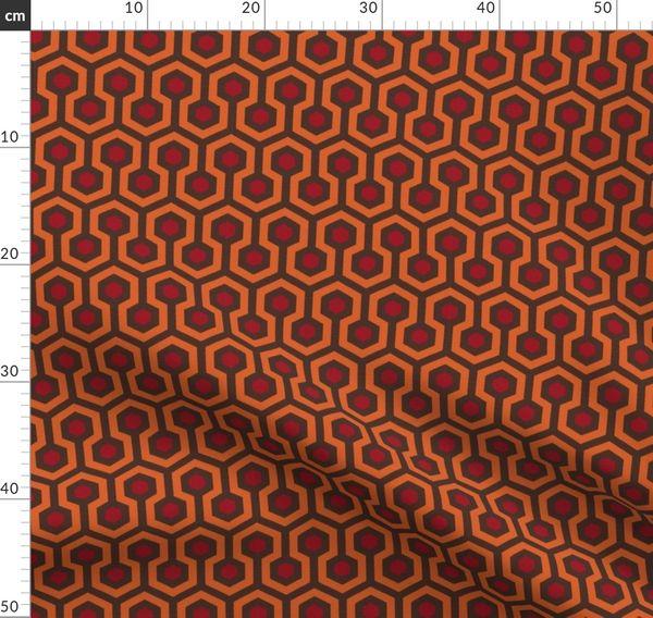 Tissu au mètre brillant, Shining, marron, orange, tapis, un hôtel,  négliger, rouge