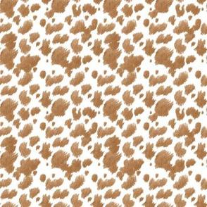 Ye Haw! Faux Cow Hide Chestnut // mini